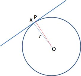 garis singgung lingkaran tegak lurus dengan jari-jarinya
